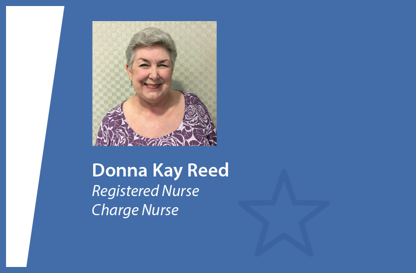 donna kay reed rn charge nurse chi st joseph health always honors